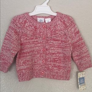 Baby cardigan, size 6M, color red